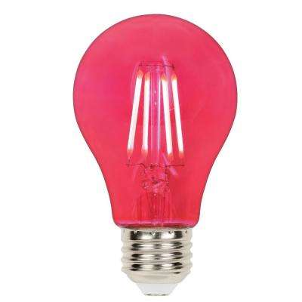 40-Watt Equivalent A19 Dimmable Pink Filament LED Light Bulb