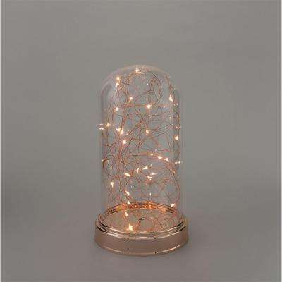 5.5 in. x 10.5 in. Clear LED Lighted Glass Cloche
