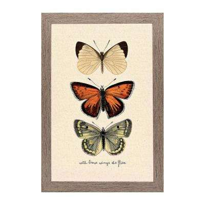 "Homespun Faith Collection ""Brave Wings"" by Carpentree Framed Natural Canvas Wall Art"