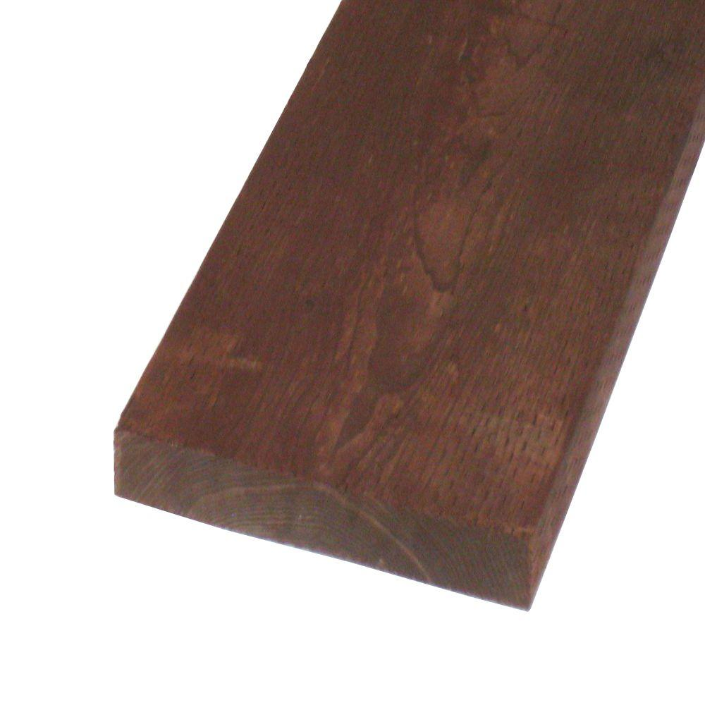 null Pressure-Treated Lumber HF Brown Stain (Common: 2 in. x 12 in. x 12 ft.; Actual: 1.5 in. x 11.25 in. 144 in.)