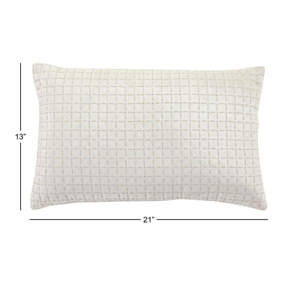 Lumbar Decorative Throw Pillow Covers Boho Rectangle Neutral Cream 12 X 20 Inch