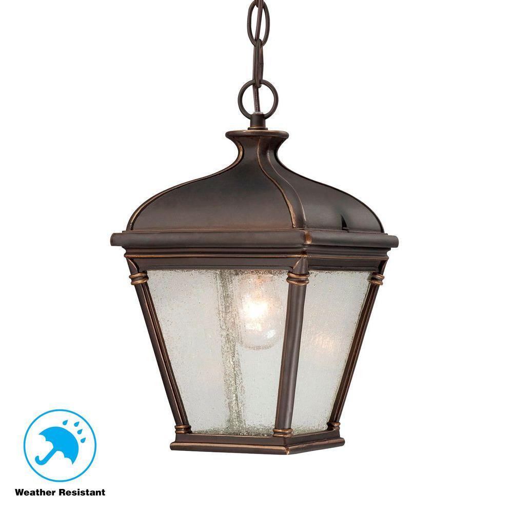 Malford Dark Rubbed Bronze Outdoor Hanging Lantern