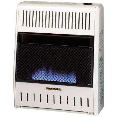 20,000 BTU Ventless Natural Gas Blue Flame Space Heater with Manual Control