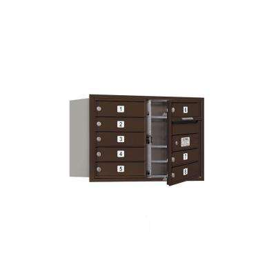 3700 Series 20 in. 5 Door High Unit Bronze Private Front Loading 4C Horizontal Mailbox with 8 MB1 Doors