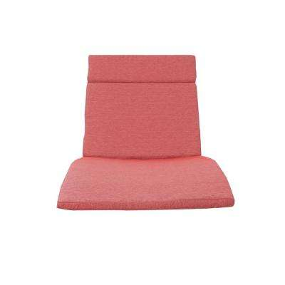 Salem Red Outdoor Chaise Lounge Cushion