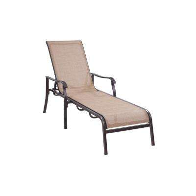 Covina Aluminum Sling Patio Chaise Lounge