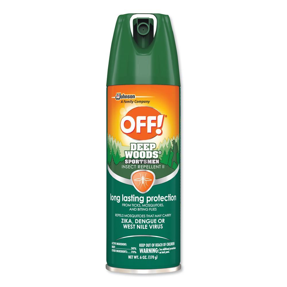 6 oz. Aerosol Deep Woods Sportsmen Insect Repellent (12/Carton)