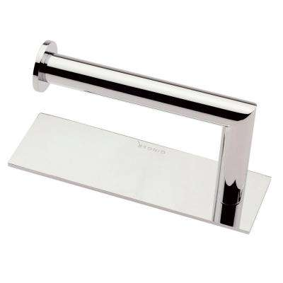 Surface Right Single Post Toilet Paper Holder in Polished Chrome