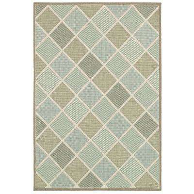 7 X 10 Multi Colored Outdoor Rugs The Home Depot