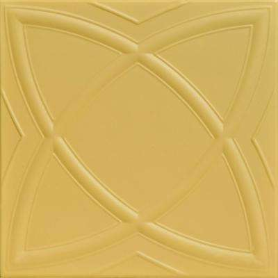 Elliptic Illusion 1.6 ft. x 1.6 ft. Foam Glue-up Ceiling Tile in Concord Ivory