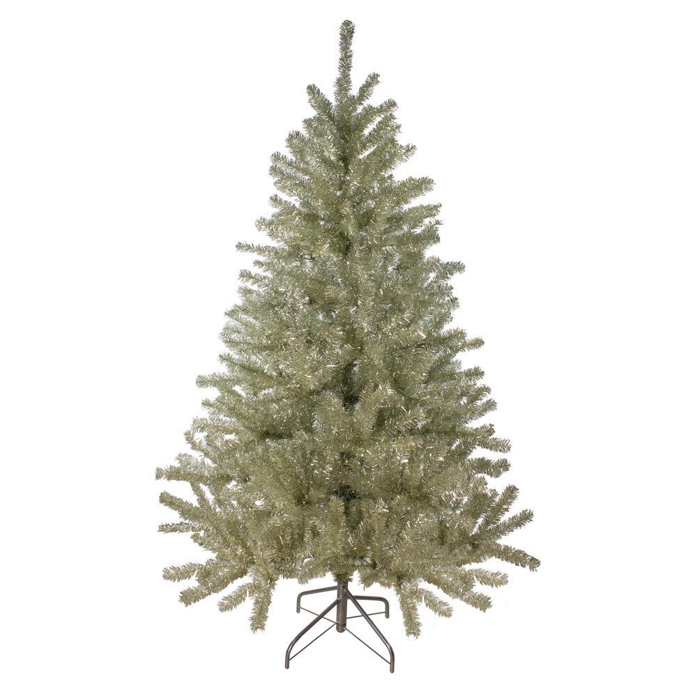 6 ft. Unlit Metallic Silver Artificial Tinsel Christmas Tree