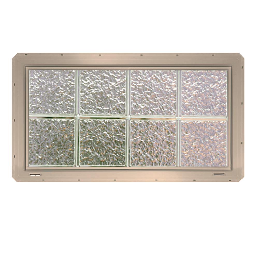 Integral J Channel Vinyl Replacement Glass Block Windows