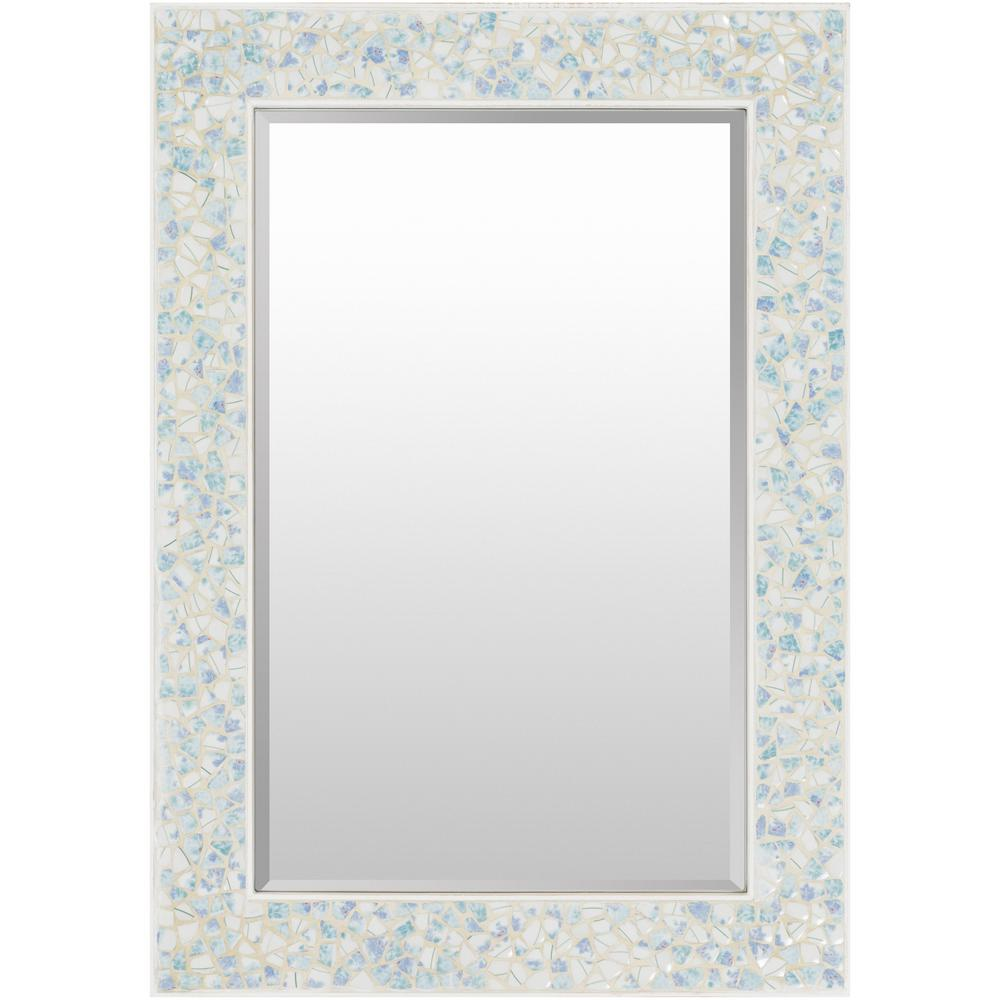 Yaxley 40 in. x 28 in. Coastal Framed Mirror