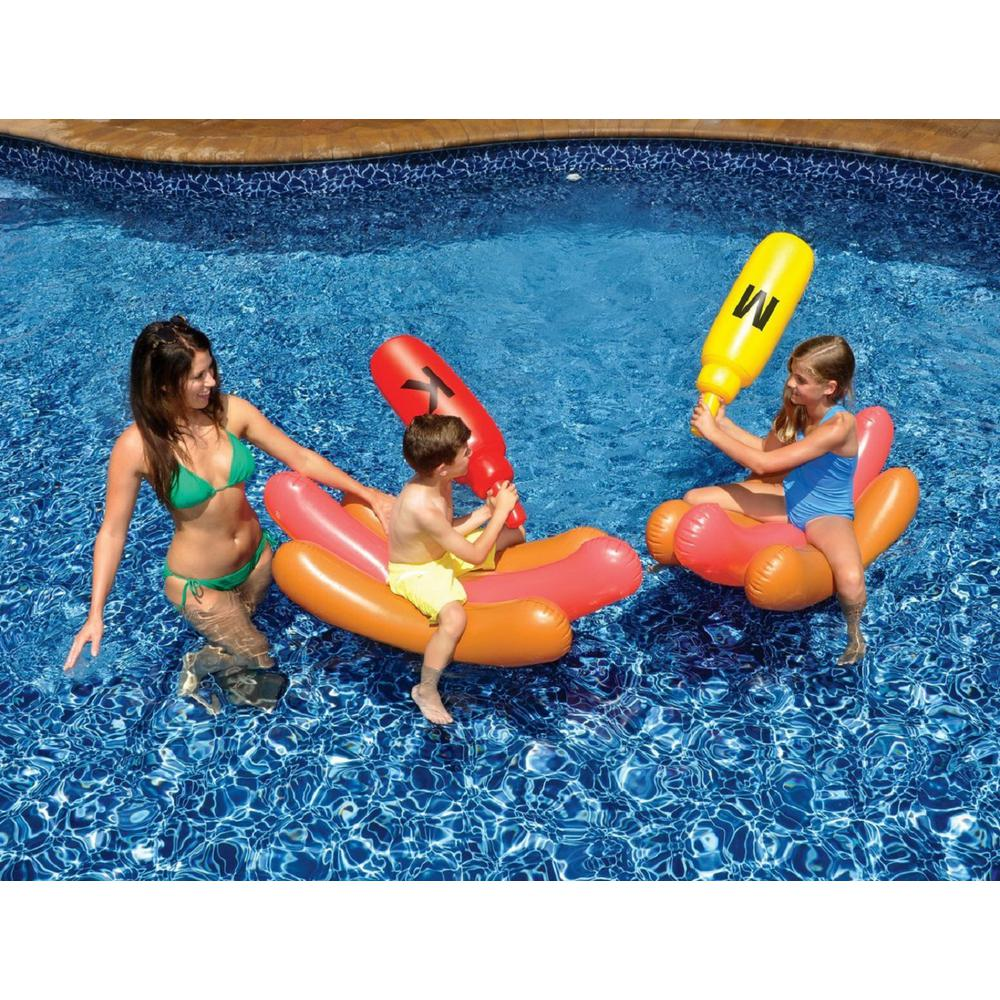 Swimline Hotdog Battle Swimming Pool Float