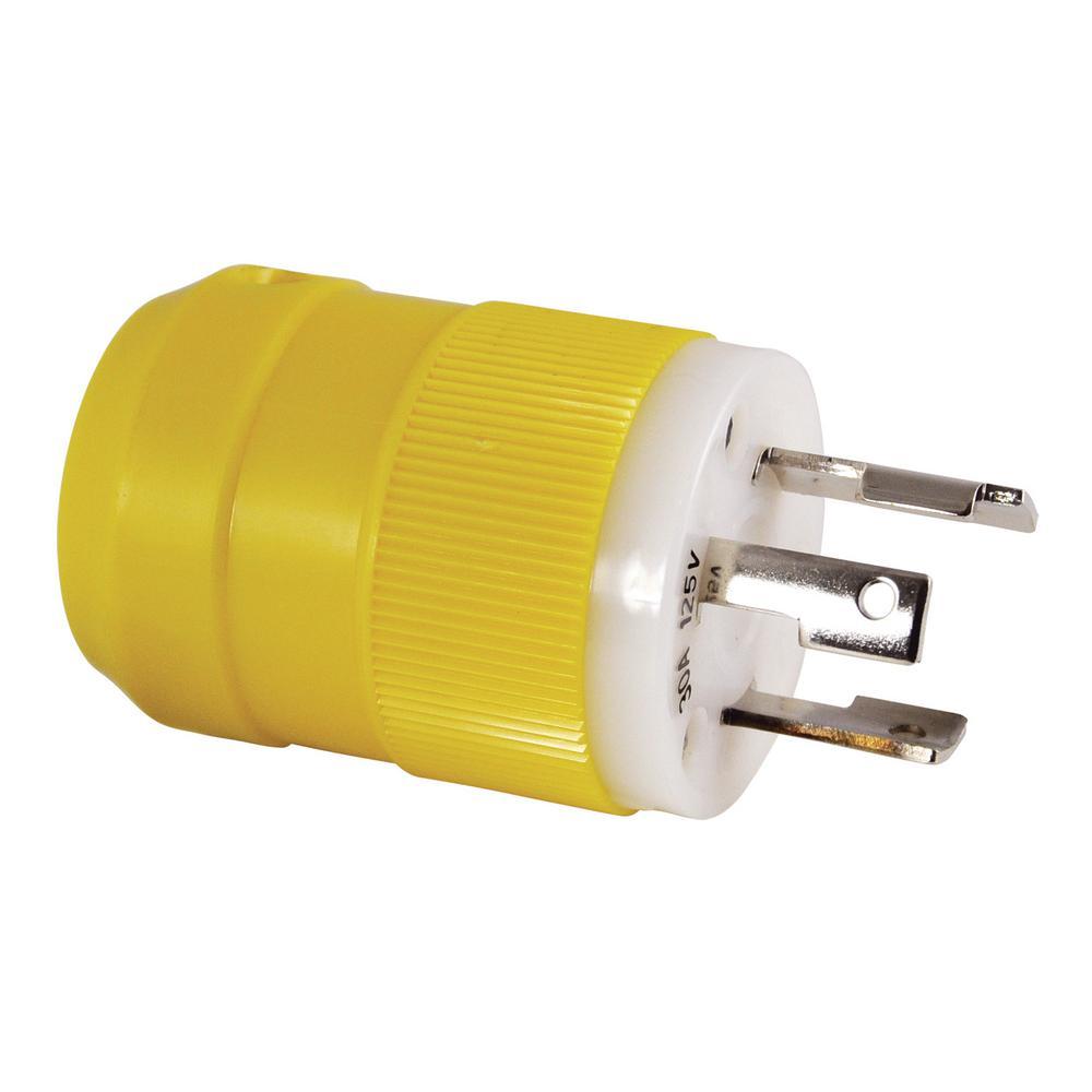 ac works locking adapter household plug 15 amp nema 5 15p to 4 prong 30 amp locking l14 30r 2. Black Bedroom Furniture Sets. Home Design Ideas