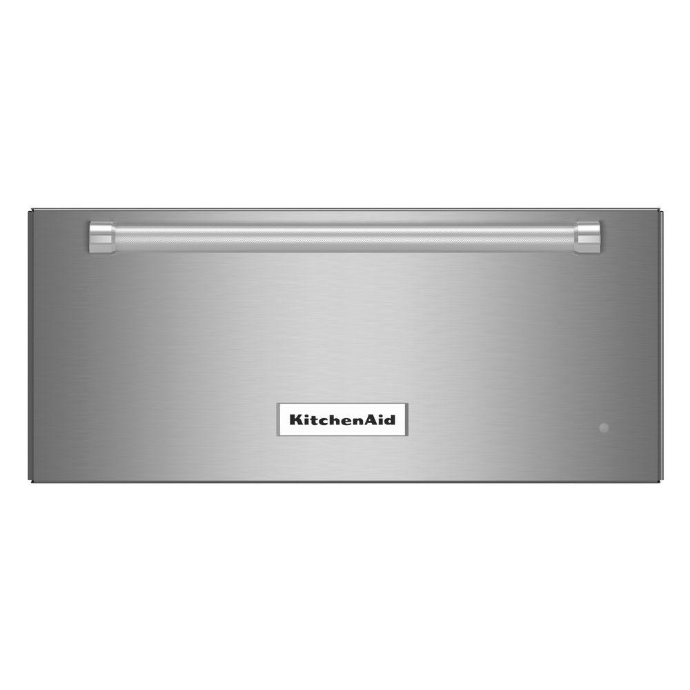Shop Kitchenaid Architect Ii 24 In Black Stainless Steel: KitchenAid 24 In. Slow Cook Warming Drawer In Stainless Steel-KOWT104ESS