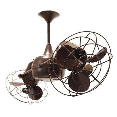 Duplo-Dinamico 39 in. Indoor/Outdoor Bronzette Ceiling Fan with Wall Control