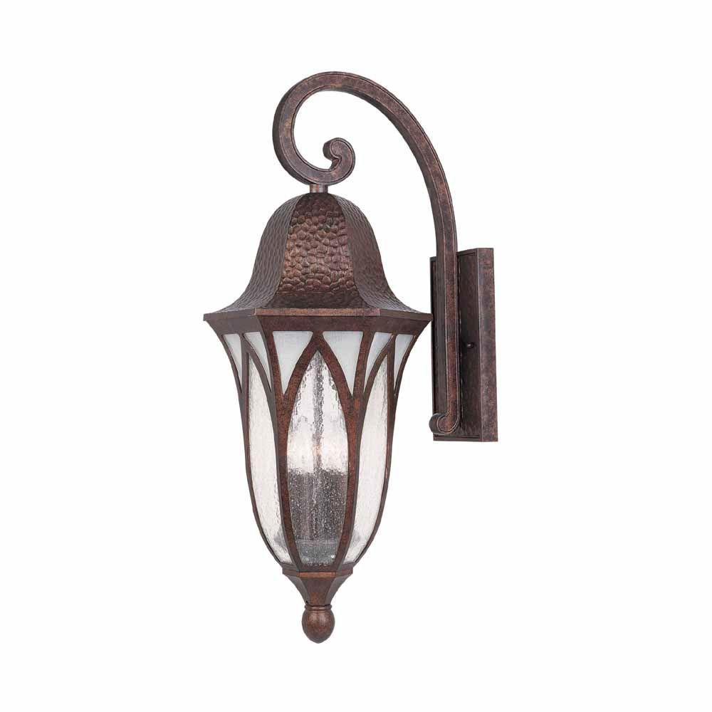 World imports 11 in burnished antique copper outdoor wall sconce burnished antique copper outdoor wall sconce with clear seedy glass amipublicfo Images