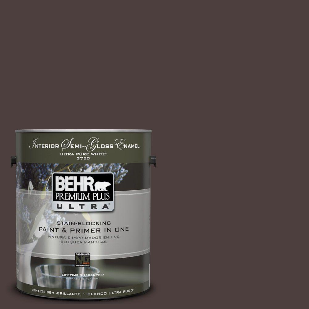 BEHR Premium Plus Ultra 1-Gal. #UL110-23 Polished Leather Interior Semi-Gloss Enamel Paint
