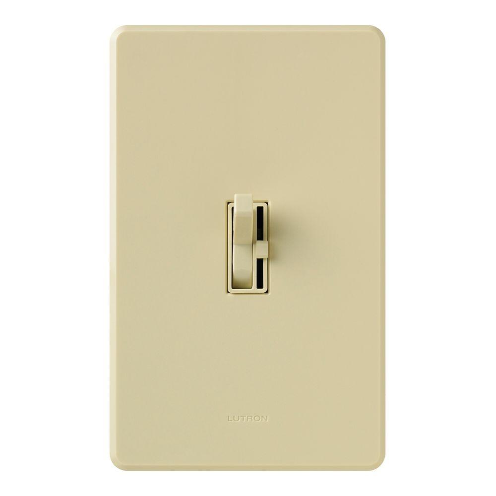 Lutron Toggler 1000-Watt Single-Pole Dimmer with Night Light - Ivory