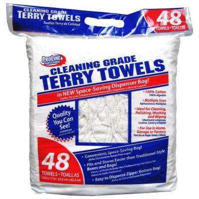 Cleaning-Grade Terry Towels (48-Pack)
