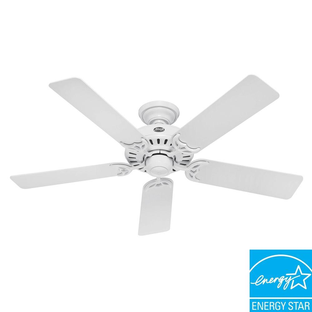 Hunter Summer Breeze 52 in. White Ceiling Fan-DISCONTINUED