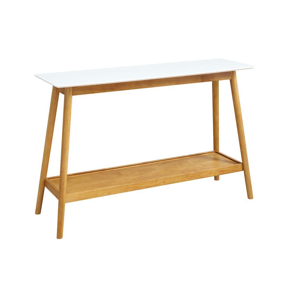Oslo White Console Table