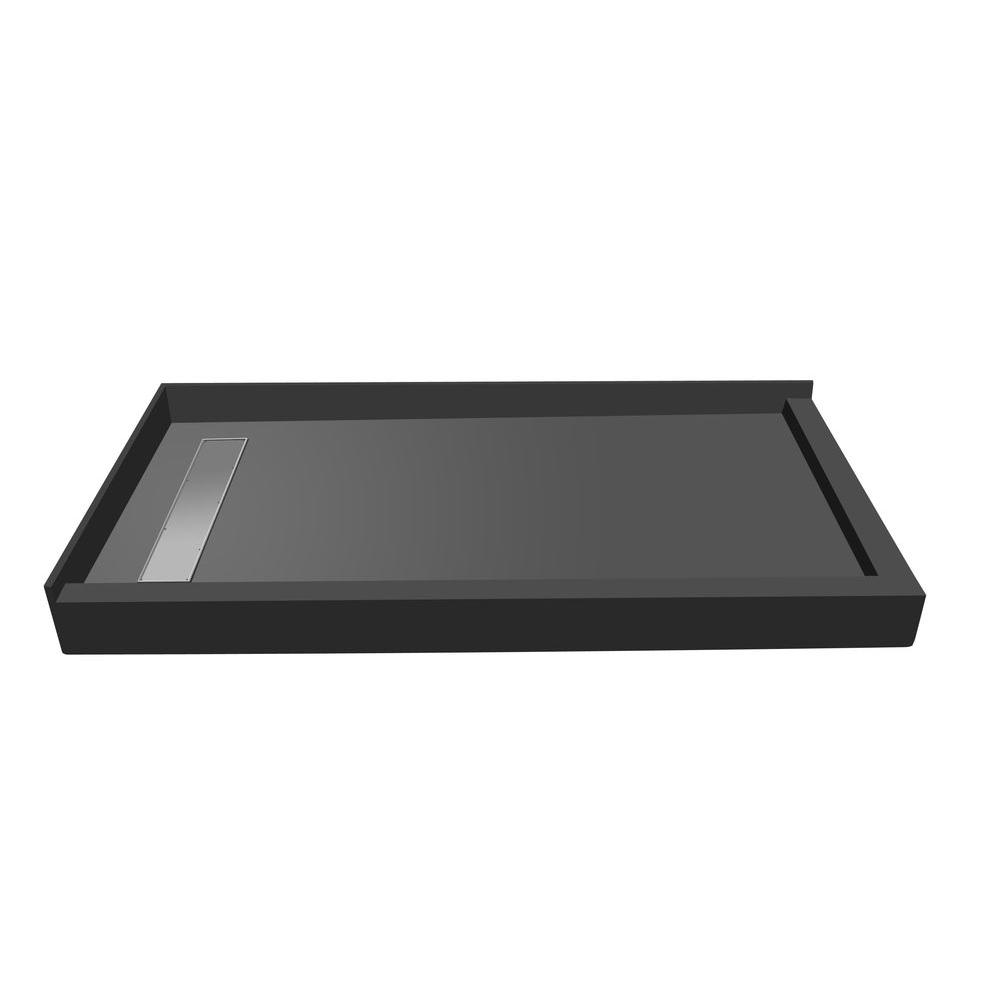 48 in. x 60 in. Double Threshold Shower Base with Left