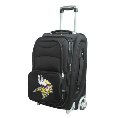 NFL Minnesota Vikings 21 in. Black Carry-On Rolling Softside Suitcase