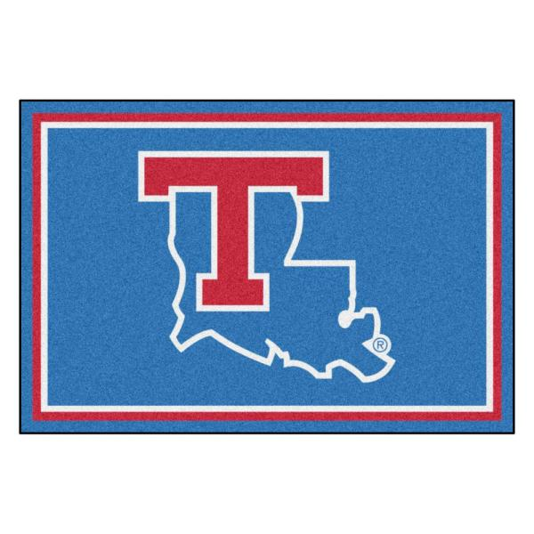 NCAA - Louisiana Tech University Blue 8 ft. x 5 ft. Indoor Area Rug