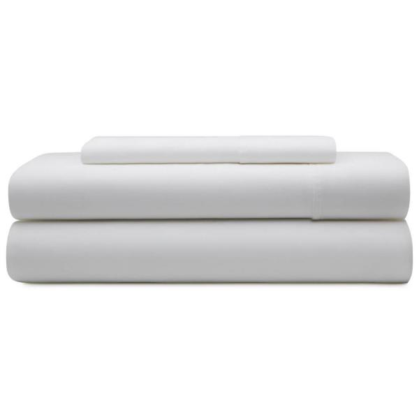 Brookside 3-Piece White Microfiber Twin Sheet Set BS90TTWHMS