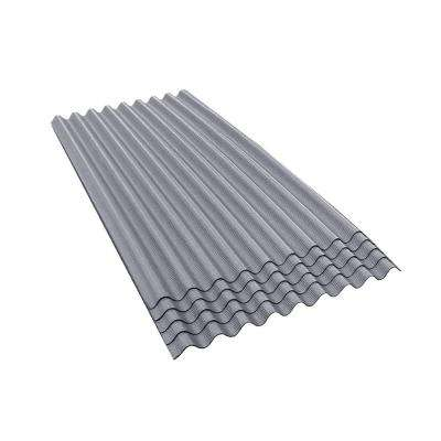 6 ft. 7 in. x 3 ft. Asphalt Corrugated Roof Panel in Gray (5-Pack)