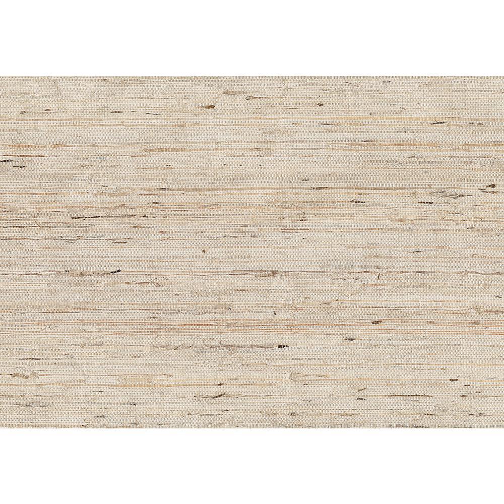 8 in. x 10 in. Kotone Cream Grasscloth Wallpaper Sample