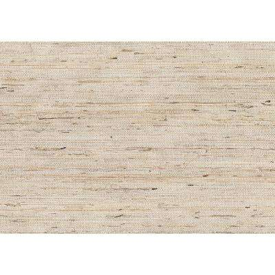 8 in. x 10 in. Kotone Cream Grasscloth Wallpaper Sample
