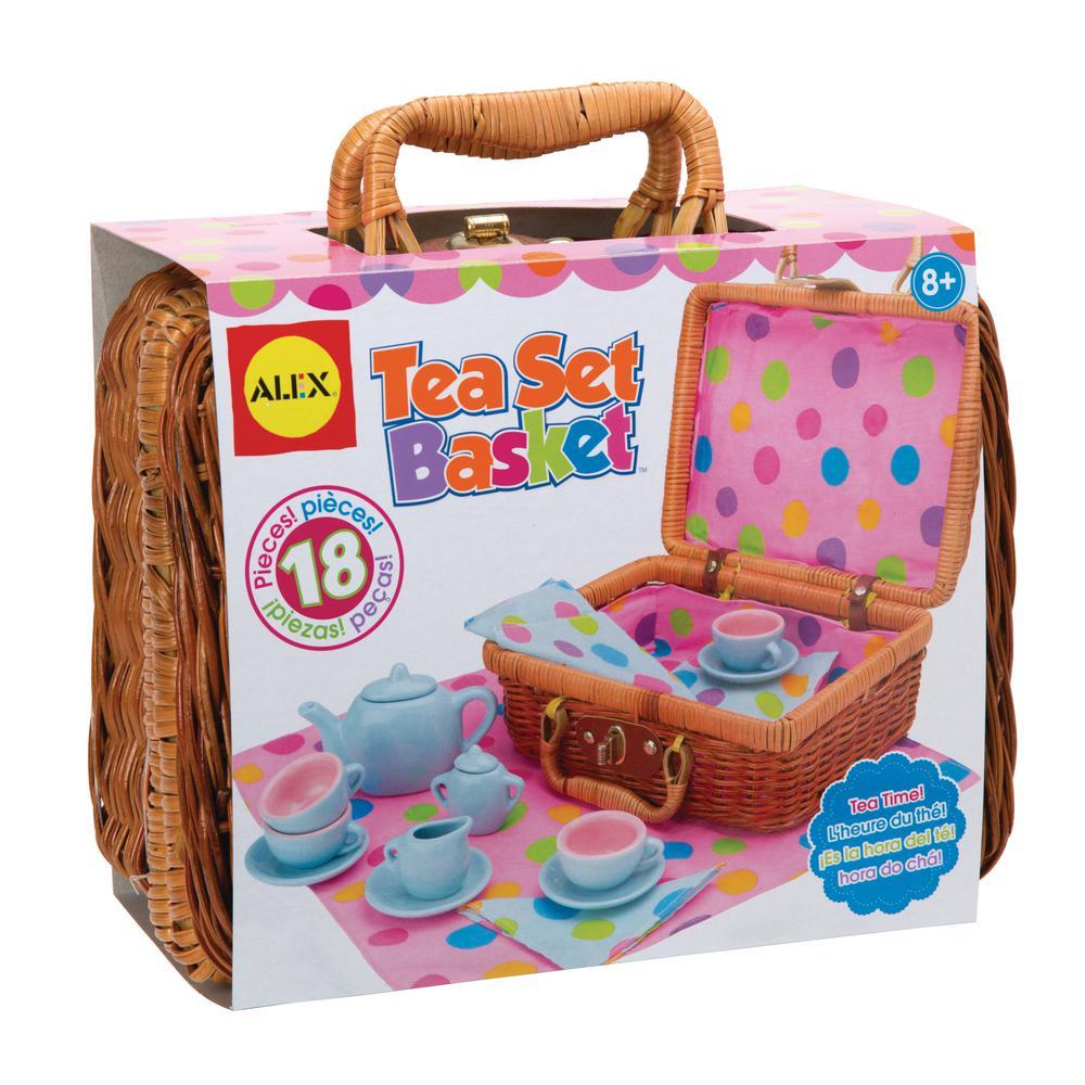 Alex Toys Tea Set Basket 0a709w The Home Depot