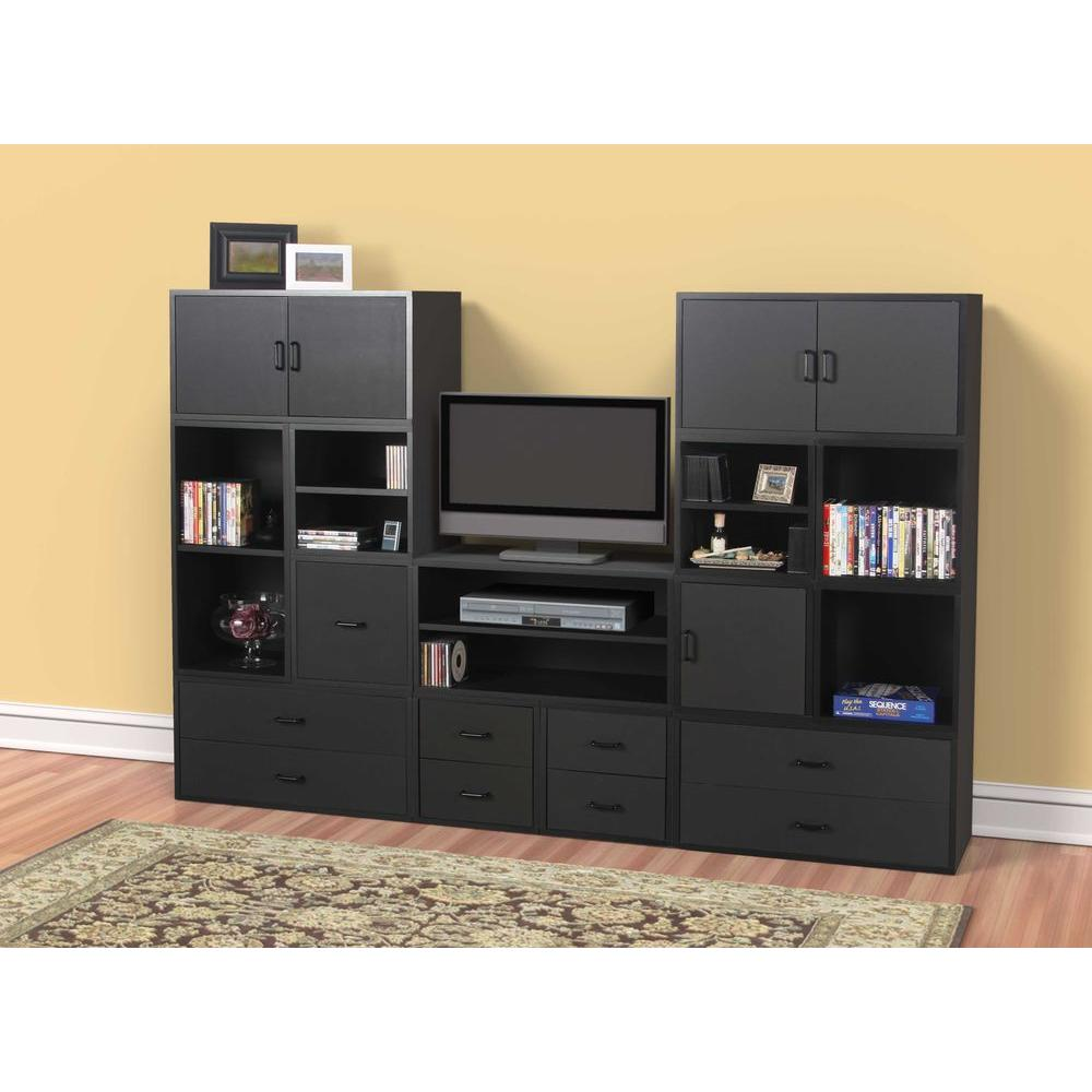 30 In Black Large Shelf Cube 329206 The Home Depot