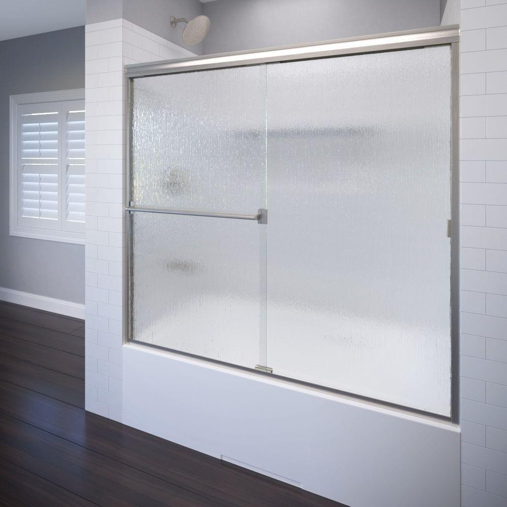 Classic 60 in. x 57 in. Semi-Framed Sliding Tub Door in