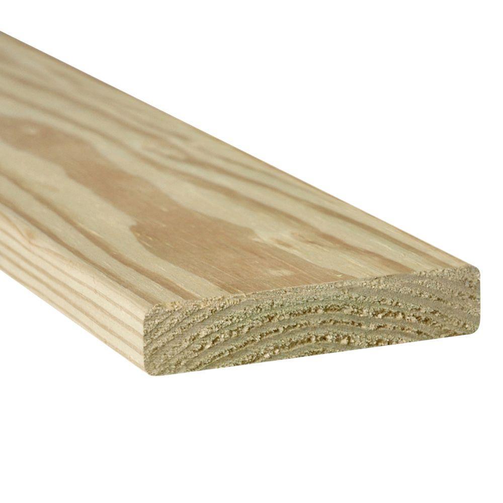 null 5/4 in. x 6 in. x 6 ft. WeatherShield Pressure-Treated Premium Pine Decking Board