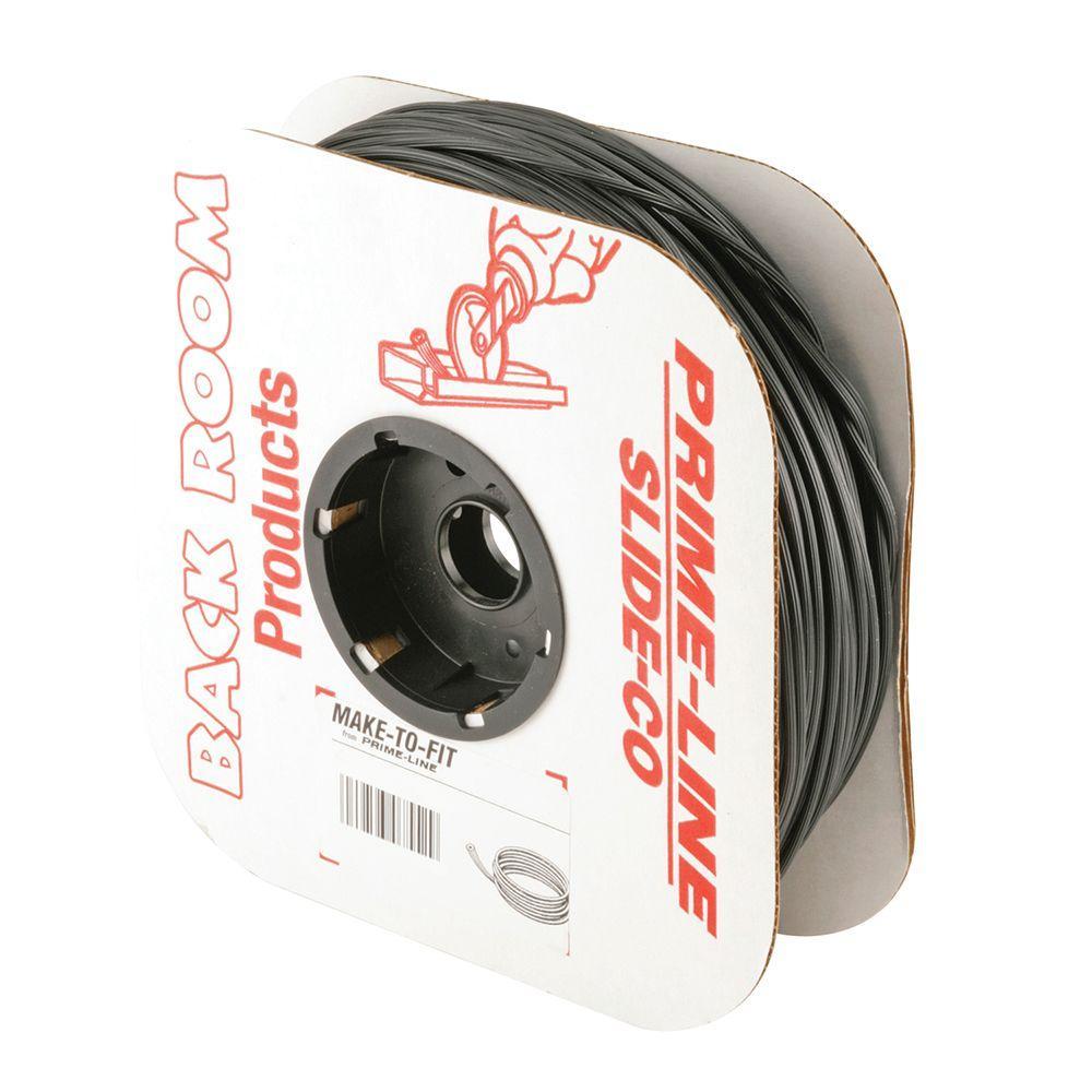 Prime-Line 0.155 in. x 250 ft. Roll Black Spline