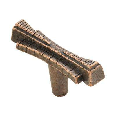 2.5 in. Venetian Bronze Art Deco Knob