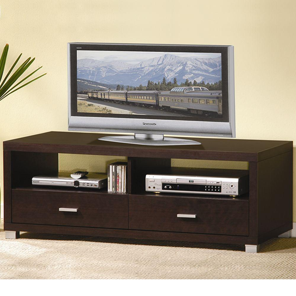 Baxton Studio Derwent Dark Brown Entertainment Center