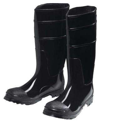 Black PVC Boot Size 8