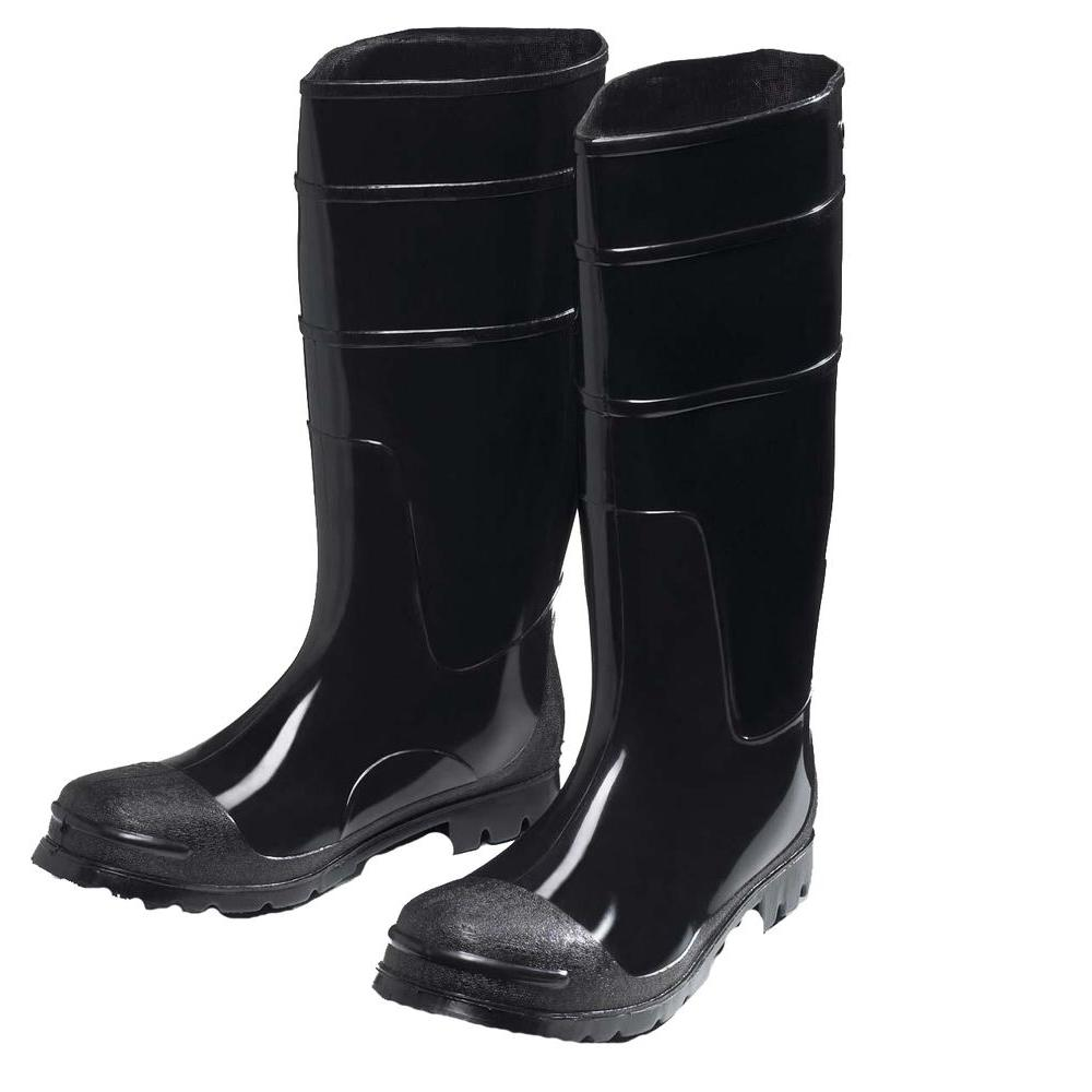 West Chester Black PVC Boot Size 9
