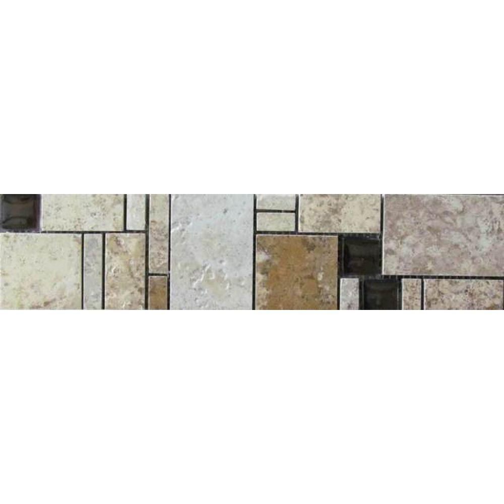 MARAZZI Emilia 3 in. x 12 in. Glazed Porcelain Listello Floor and ...