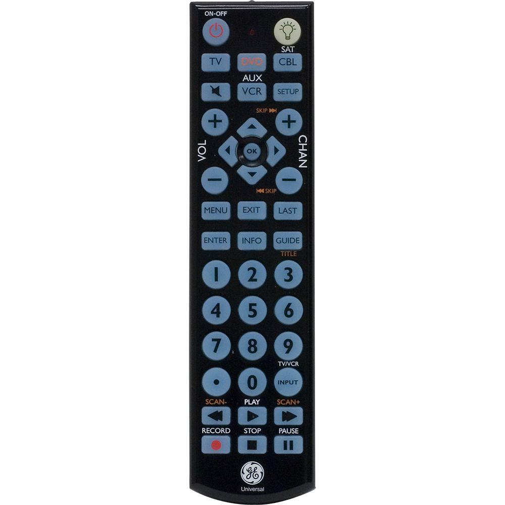 GE Universal Remote with LED Backlight