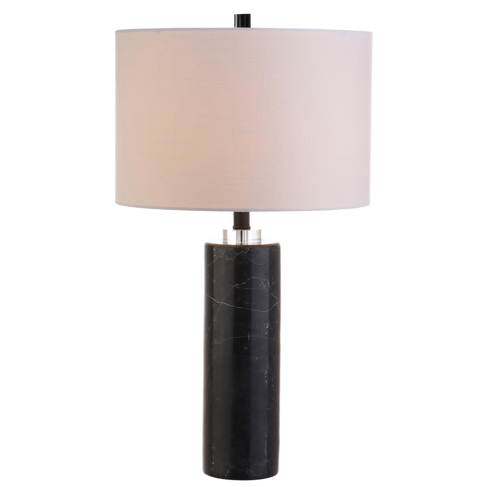 Jonathan Y Brooks 27 In H Black Marble Crystal Table Lamp Jyl5011a