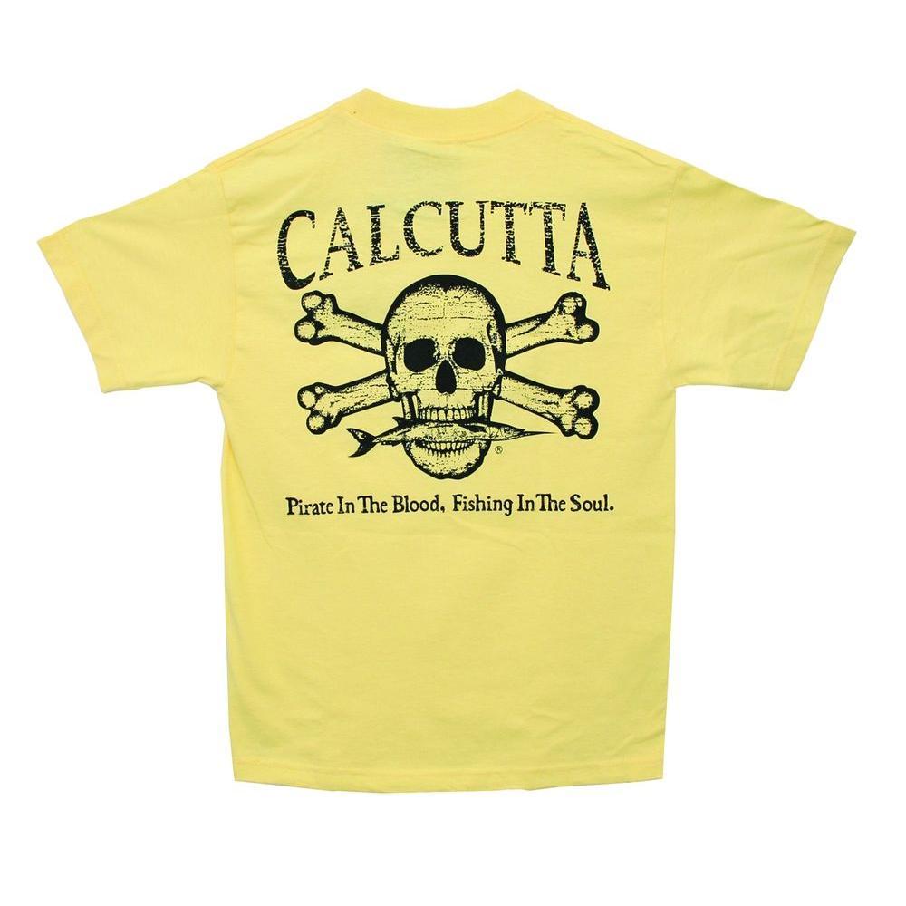 Adult Triple Extra Large Original Logo Short Sleeved Front Pocket T-Shirt in Gold