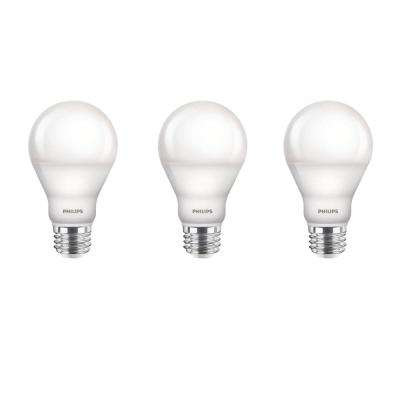 60-Watt Equivalent A19 Dimmable LED Light Bulb Soft White with Warm Glow Light Effect Household (3-Pack)
