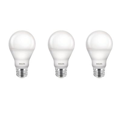60-Watt Equivalent A19 Dimmable with Warm Glow Dimming Effect Energy Saving LED Light Bulb Soft White (2700K) (3-Pack)