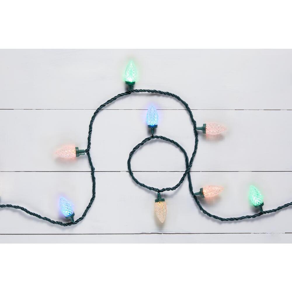 50-Light LED C9 2-Function Warm White to multicolor Light Set